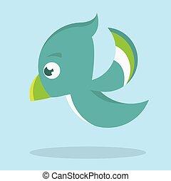 Birdie Icon Vector