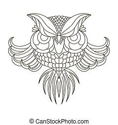 birds., águila, owl.