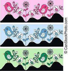 birds - bird headers or labels