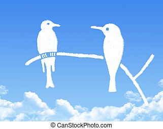 birds cloud shape