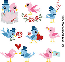 birds couple design for valentines
