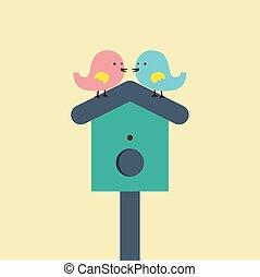 birds., couple
