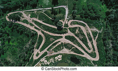 Aerial view of a track