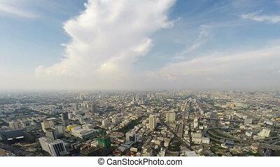 Birds eye view of Bangkok city