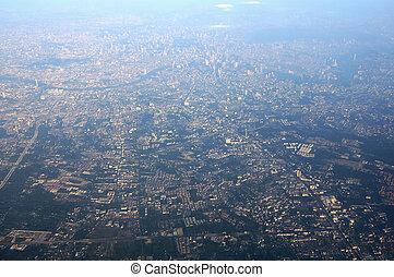 Bird's eye view of Bangkok, Thailand