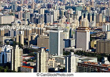 Bird\\\'s eye view of beijing - panoramic view of beijing...
