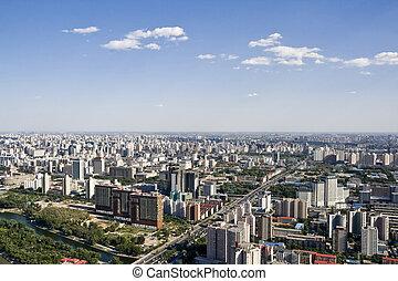 Bird\'s eye view of beijing - panoramic view of beijing...