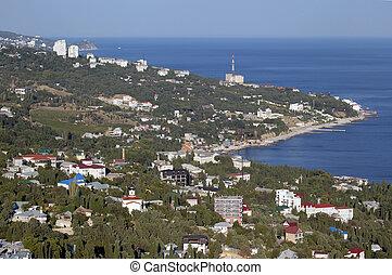 Black sea coastline in Crimea.