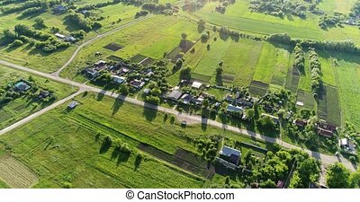 Bird's eye view of countryside Central Russia