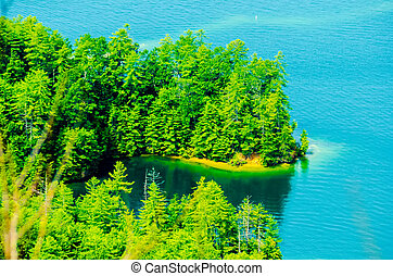 birds eye view of lake jocassee landscapes