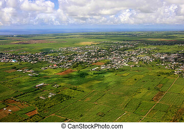 Bird's eye view of Mauritius