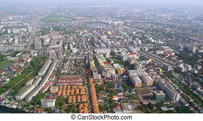 Bird's eye view of the Asian suburbs