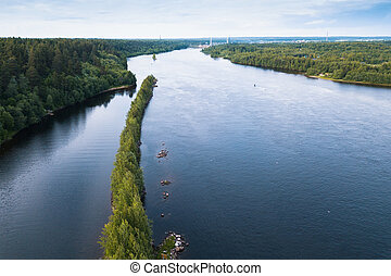 Bird's-eye view of the Svir river, from Ladoga to Onega...