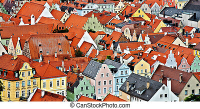 Bavarian Town - Bird's Eye View on the Bavarian Town of ...