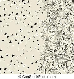 Birds from a flower