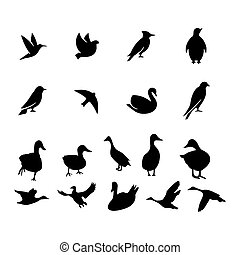 Birds icon isolated on background Vector illustration