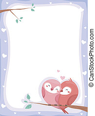 Birds in Love Background - Background Illustration of...