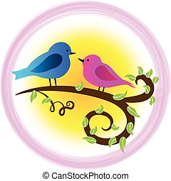 Birds love symbol