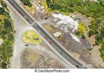 Birds Monument In Tungurahua Aerial Shot