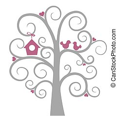 Birds on tree.