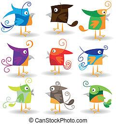 Birds set #3