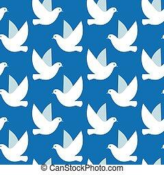 birds., simple, modèle, seamless, texture, vecteur