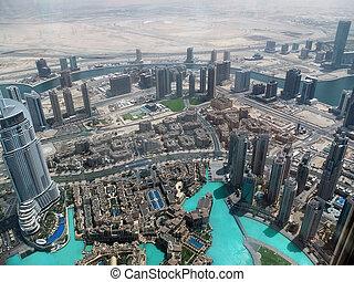 Dubai - Birds view of Dubai city center