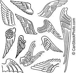 Birds & wings set