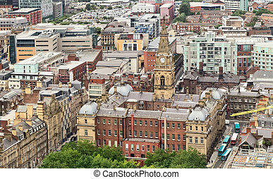 Birdseye view of the Municipal Buildings in Liverpool, UK
