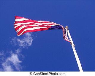 Birdseye View USA Flag - A photo I took of an American flag