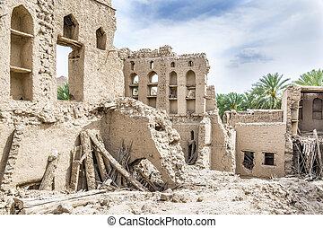 Birkat al mud ruins - Image of ruins in Birkat al mud in...
