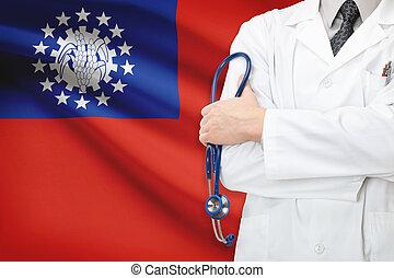 birmanie, concept, national, -, système, healthcare