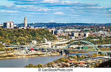 Birmingham Bridge across the Monongahela River in Pittsburgh, Pennsylvania