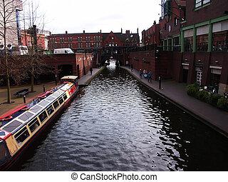 water canals, birmingham, england