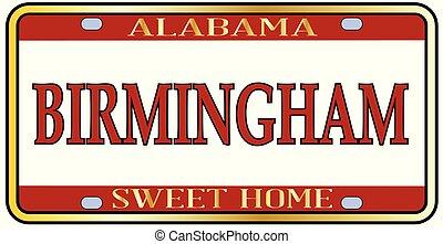 Birmingham City Alabama State License Plate - Birmingham...
