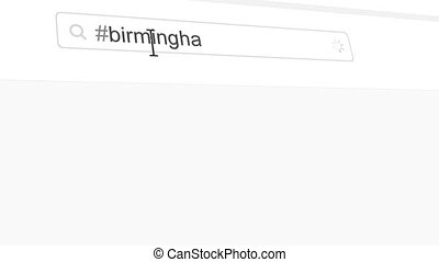 Birmingham hashtag search through social media posts