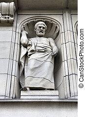Plato - Birmingham University facade statue - famous...