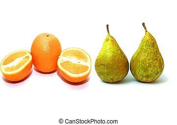 birnen, und, orangen