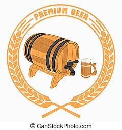 birra, barre, tazza