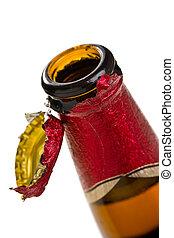 birra, berretto, apertura