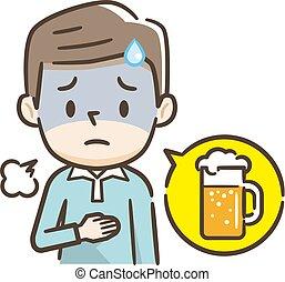 birra, bevanda, uomini, because, essi, cattivo, molto, tatto