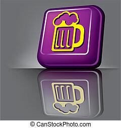 birra, bottone