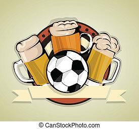 birra, calcio, fondo