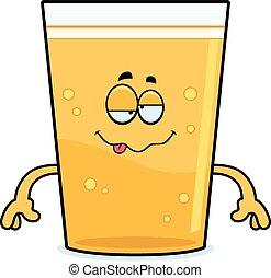 birra, cartone animato, ubriaco