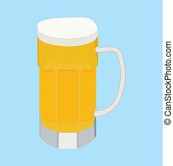 birra, cartone animato