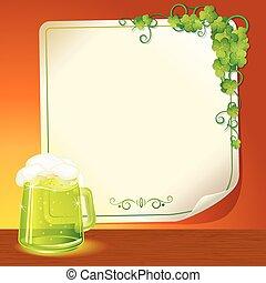 birra chiara, verde