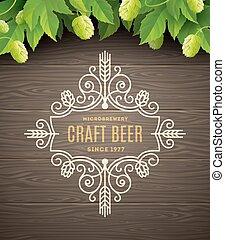 birra, emblema, flourishes