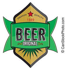 birra, etichetta, disegno