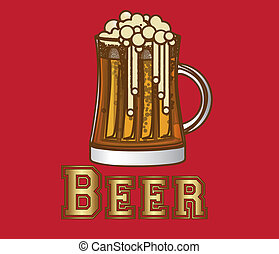 birra, etichetta