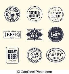 birra, etichette, adesivi